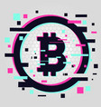 crypto currency coin emblem blockchain vector image vector image