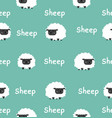 cute black little sheep seamless pattern vector image vector image