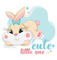 cute little baby bunny vector image