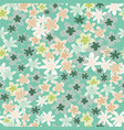 daisy silhouettes floral seamless pattern vector image vector image