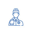 doctor line icon concept doctor flat vector image vector image