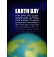 Earth Day Planet earth and black space Space for vector image vector image
