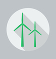 eco flat icon wind energy vector image vector image