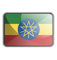 ethiopia flag on white background vector image vector image
