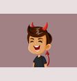 evil naughty boy laughing cartoon vector image