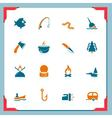 fishing icons - in a frame series vector image