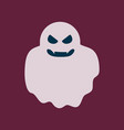 flat icon stylish background halloween ghost vector image vector image