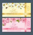 Flower gift vouchers vector image vector image