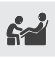 Foot massage icon vector image