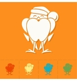 Funny Bird Bullfinch in Christmas Cap vector image vector image