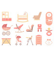 furniture and equipment for girls vector image