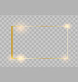 golden frame with lights effects vector image