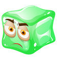 Green cube with face vector image vector image