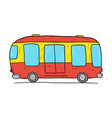 hand drawn cartoon bus vector image vector image