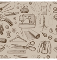 Hand drawn sewing pattern vector image vector image
