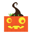 happy halloween cartoon pumpkin monster avatar vector image vector image