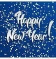 Happy New Year 3d White Text with Shadow vector image vector image