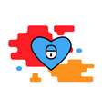 heart icon with a loke trendy modern concept vector image vector image