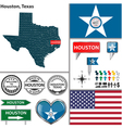 Houston Texas set vector image vector image