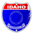 idaho flag icons as a interstate sign vector image vector image