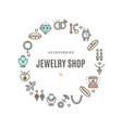 jewelry shop round design template contour lines vector image vector image