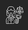 justice sector chalk white icon on black vector image