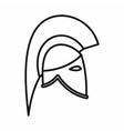 Knight helmet icon outline style vector image vector image