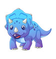 little triceratops cartoon vector image vector image