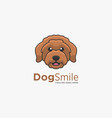 logo dog smile simple mascot style vector image
