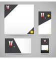 Male clothing suit card template vector image