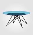 Modern glass coffee table vector image vector image