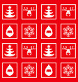 new year christmas checkered pattern vector image vector image