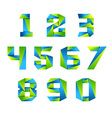 Number set icon design template elements 3d logo vector image