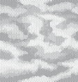octagon camouflage seamless pattern white gray vector image