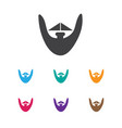 of coiffeur symbol on beard vector image