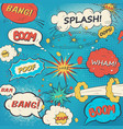 pattern comic speech bubbles in pop art style vector image vector image