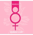Pink symbol womens day background vector image