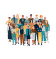 portrait business team diverse people standing vector image