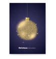 poster for merry christmas holidays with luxury vector image