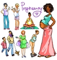 Pregnant women collection vector image