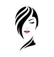 pretty woman face care concept design vector image