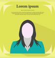 professional profile icon female portrait flat de vector image vector image