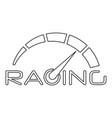 racing speedometer logo outline style vector image