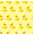 Seamless pattern with duckling on yellow dotted vector image vector image