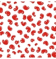 Seamless pattern with red apples for your design vector image