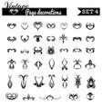 set 4 Vintage page decorations vector image vector image