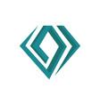 shinning jewelry stylish diamond logo design vector image vector image
