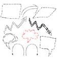 sketch arrows vector image