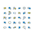 speech bubble filled outline icon set vector image vector image