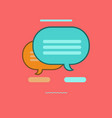speech bubble icon set of great flat icons use vector image